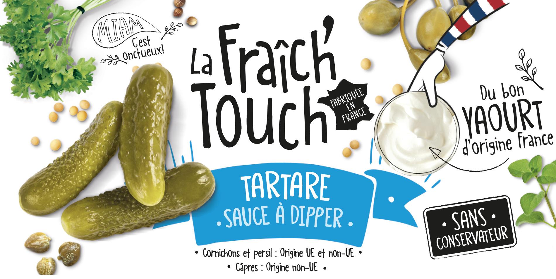 La Fraich'Touch cover sauce tartare