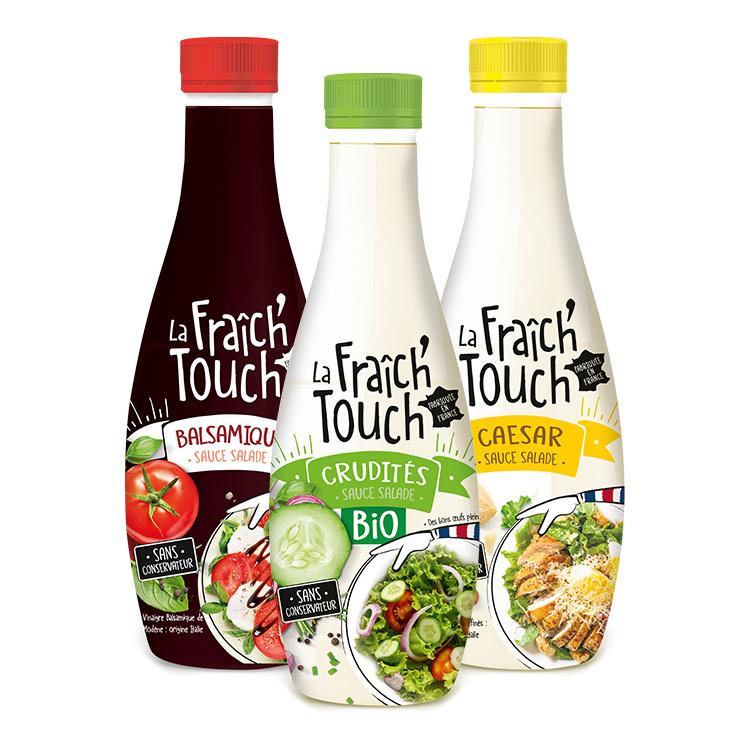 La Fraich'Touch sauces à salade trois bouteilles