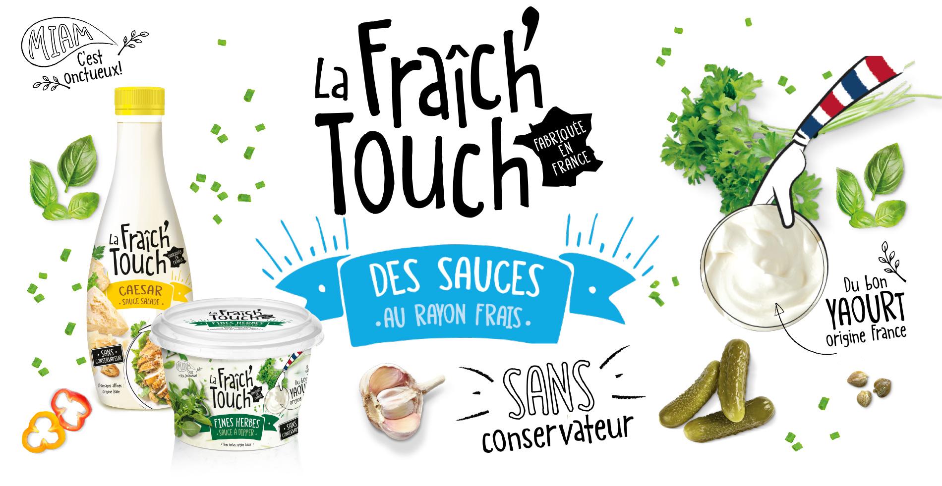 La Fraich'Touch des supers sauces au rayon frais