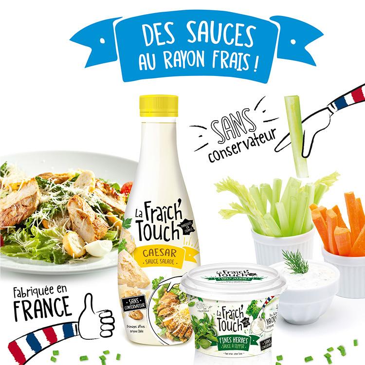 La Fraich'Touch sauce salade et apéritif