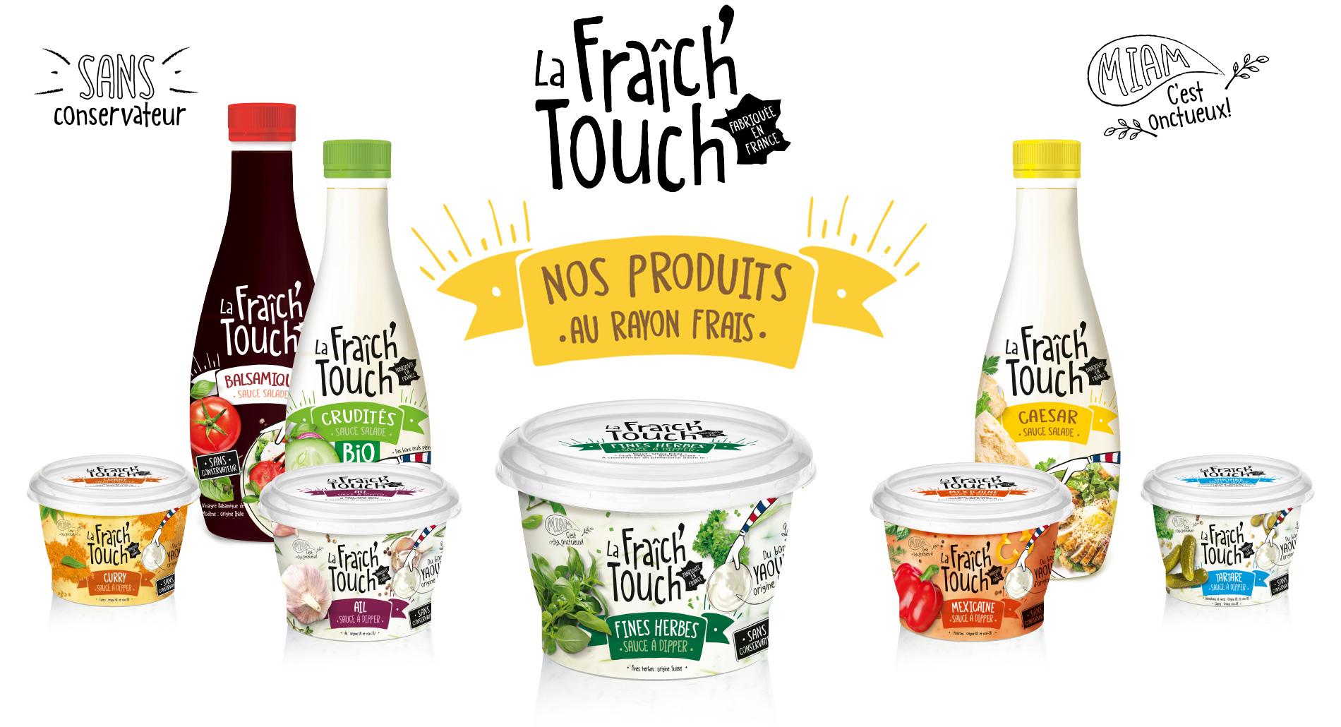 La Fraich'Touch nos sauces au rayon frais