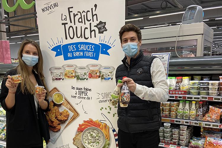 La Fraich'Touch sauce en rayon de supermarché la team